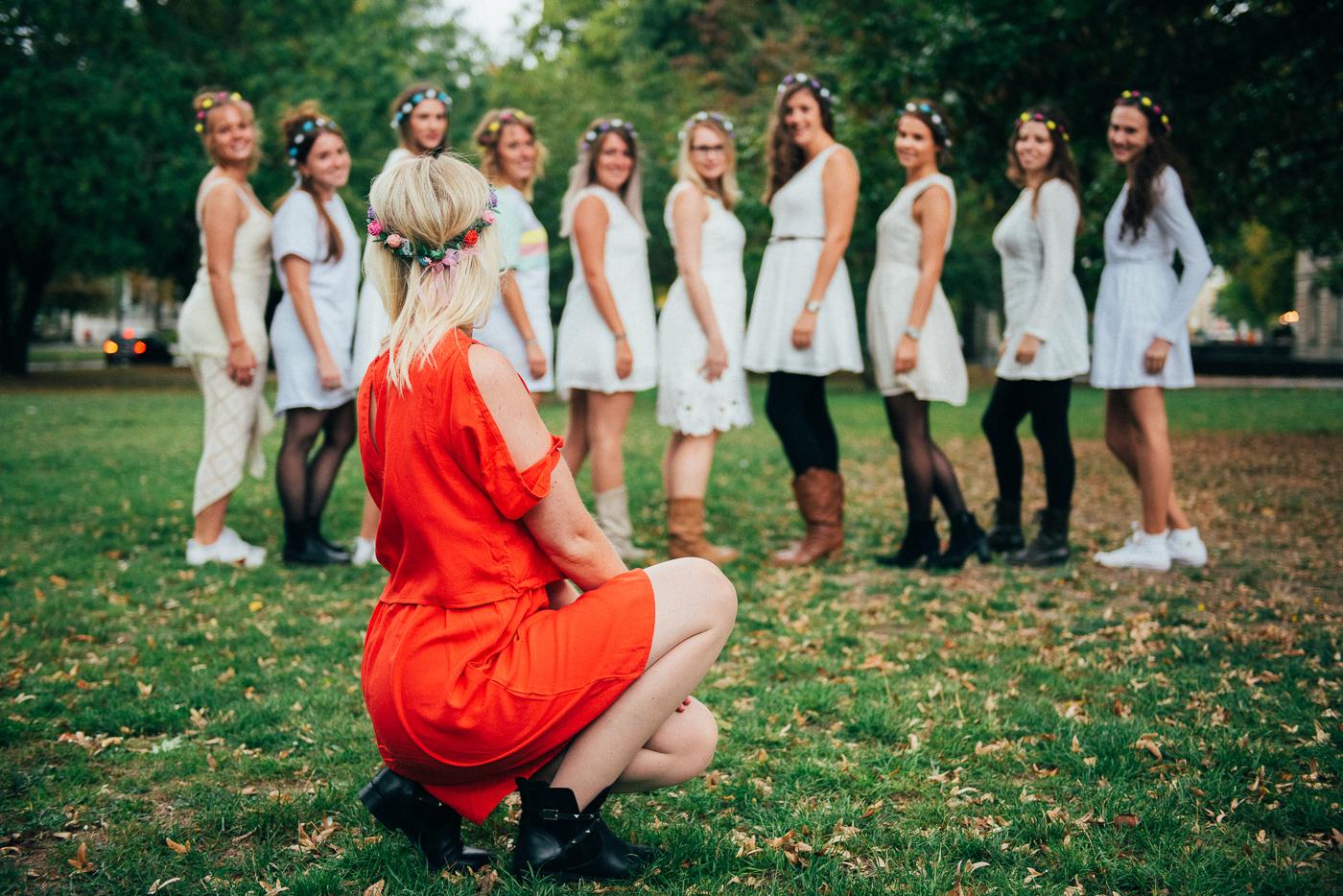 Verlobte und Ihre Freundinnnen beim JGA