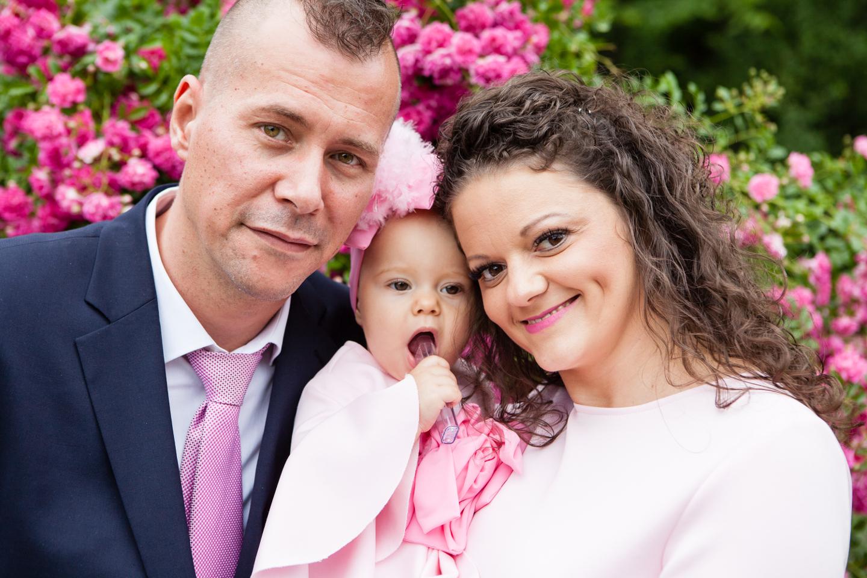Taufshooting im freien mit der Familie