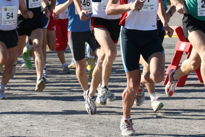 Sportfoto während dem Marathonlauf.
